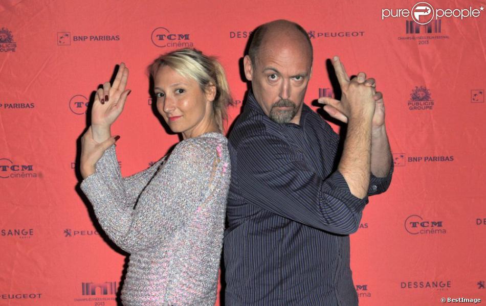 Exclusif - Audrey Lamy et Chris Renaud lors de la première de Moi moche et mechant 2 au Champs-Elysées Film Festival, Paris, le 16 juin 2013.