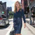 Heidi Klum, sexy femme d'affaires, enchaîne les rendez-vous à New York. Le 19 juin 2013.