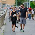 Heidi Klum et Martin Kirsten se promènent en amoureux à New York, le 16 juin 2013.