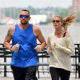 Heidi Klum et Martin Kirsten se détendent en faisant du sport en plein New York. Le 16 juin 2013.