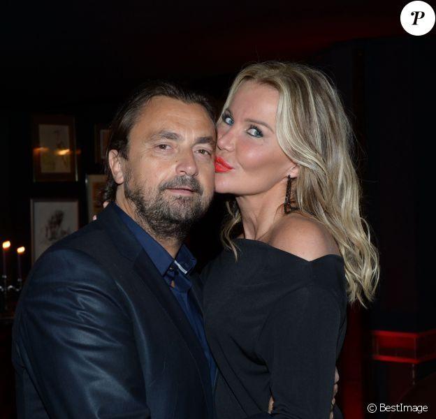Henri Leconte et sa femme Florentine lors de son 50e anniversaire célébré au restaurant Très Honoré à Paris le 30 mai 2013