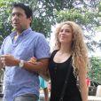 Shakira quitte le consulat américain à Rio de Janeiro, le 21 juin 2013.