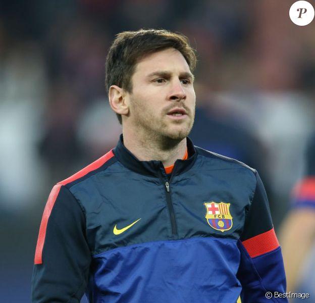 Lionel Messi au Parc des Princes à Paris le 2 avril 2013.