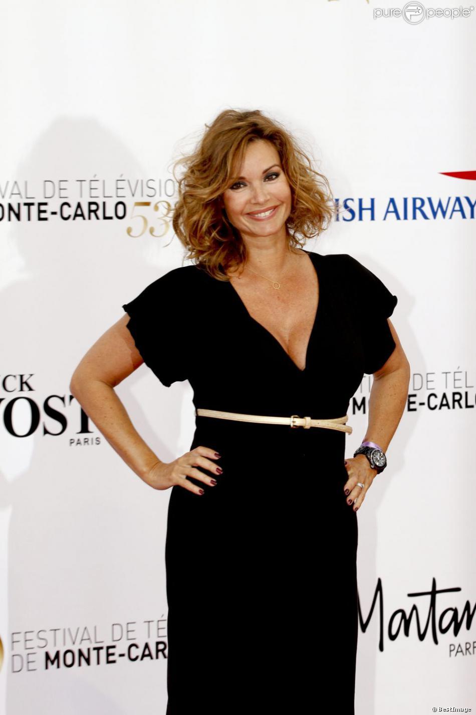 Ingrid Chauvin, enceinte à la cérémonie d'ouverture du 53e festival de Monte Carlo au Forum Grimaldi à Monaco, le 9 Juin 2013.