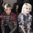 Brahim Zaibat et la chanteuse Sky Ferreira assistent au défilé Givenchy printemps-été 2014 à la Cité de la Mode et du Design. Paris, le 28 juin 2013.