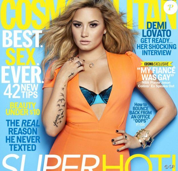 Demi Lovato en couverture du magazine Cosmopolitan, daté du mois d'août 2013.
