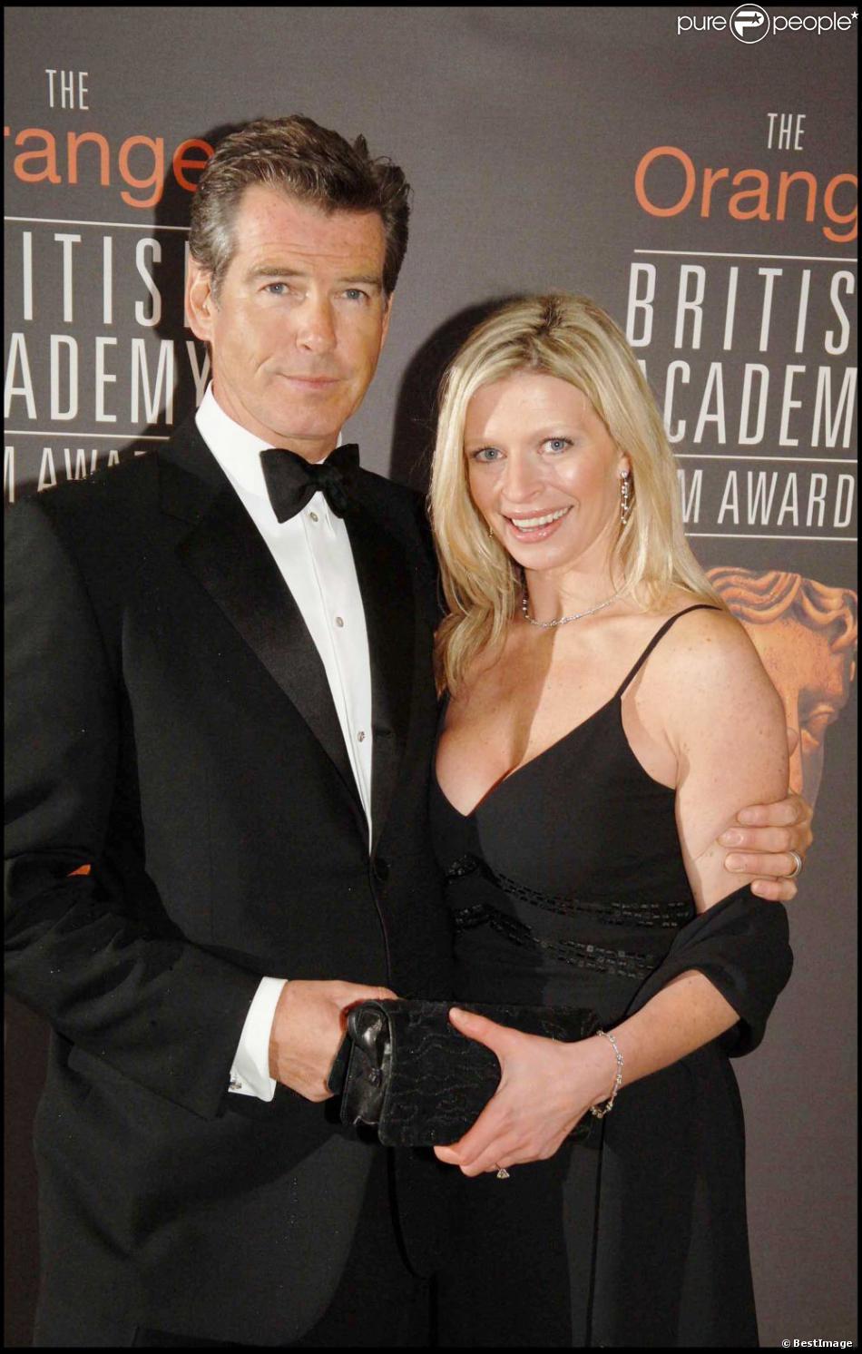 Pierce Brosnan et sa fille disparue Charlotte. En février 2006 à Londres