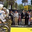 Christian Estrosi (maire de Nice) et le prince Albert II de Monaco - Quatrième étape du Tour de France, le 2 juillet 2013 à Nice.