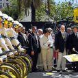 Christian Estrosi et le prince Albert II de Monaco - Quatrième étape du Tour de France, le 2 juillet 2013 à Nice.