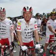 Christian Morin participe à l'étape du Coeur au profit de Mécénat Chirurgie Cardiaque en marge de la quatrième étape du Tour de France, à Nice le 2 juillet 2013.