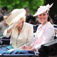 La duchesse de Cornouailles Camilla Parker Bowles et la duchesse de Cambridge, Kate Middleton. LE 15 juin 2013 à Londres.