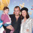 Christophe Aigrisse, ici avec Evelyne Thomas et leur fille Lola