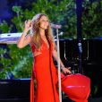 Mariah Carey aux répétitions du spectacle Macy's Fourth of July Fireworks Spectacula, à New York, le 29 juin 2013.