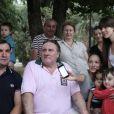 Gérard Depardieu à Sukhumi, le 2 juillet 2013.