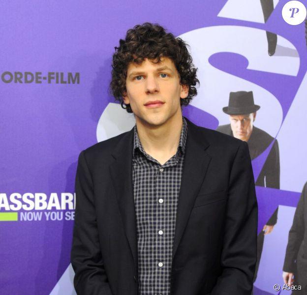 Jesse Eisenberg lors du photocall du film Insaisissables à Munich le 11 juillet 2013