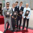 Le groupe  Backstreet Boys  (AJ McLean, Howie Dorough, Kevin Richardson, Nick Carter, et Brian Littrel) reçoit son étoile sur le  Walk Of Fame  à Hollywood, le 22 avril 2013.