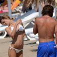 Andrea Pirlo en vacances à Ibiza le 10 juillet 2013 avec sa femme Deborah.
