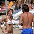 Le footballeur Andrea Pirlo en vacances à Ibiza le 10 juillet 2013 avec sa femme Deborah et quelques amis.