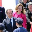 Le président François Hollande et Valérie Trierweiler au défilé du 14 juillet 2013 à Paris.