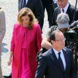 François Hollande et Valérie Trierweiler au défilé du 14 juillet 2013 à Paris.