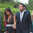 Cesc Fabregas et Daniella Semaanau mariage deXavi Hernandez et Nuria Cunilleraà Blanes, le 13 juillet 2013.