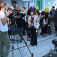 Richard Monteith est venu rendre hommage a son cousin, la star de la série Glee Cory Monteith, lors d'un mémorial organisé devant l'hôtel Fairmont Pacific Rim à Vancouver, le 19 juillet 2013.