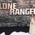 Amber Le Bon à l'avant-première de Lone Ranger à Londres le 21 juillet 2013.