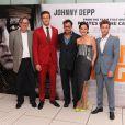 Tom Wilkinson, Armie Hammer, Johnny Depp, Ruth Wilson et Harry Treadaway à l'avant-première de Lone Ranger à Londres le 21 juillet 2013.