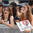 Les fans à l'avant-première de Lone Ranger à Londres le 21 juillet 2013.