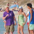 Boris Becker a débarqué avec sa femme Lilly Kerssenberg à Formentera avec tous ses enfants, le 21 juillet 2013, pour des vacances bien méritées