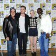 Benicio Del Toro, Lee Pace, Karen Gillan et Djimon Hounsou pour Guardians of the Galaxy au Comic-Con de San Diego le 20 juillet 2013.