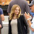 Kristen Bell sur le tournage de Veronica Mars à Los Angeles, le 3 juillet 2013.