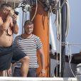 Ronaldo en vacances avec sa belle Paula Morais et ses enfants, le 23 juillet 2013 à Ibiza