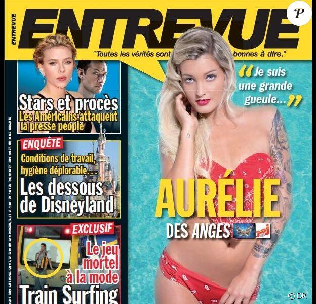 Aurélie Dotremont en couverture d'Entrevue, en kiosques vendredi 26 juillet 2013
