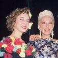 Pauline et Elisabeth avec leur mère Bernadette Lafont en 1987