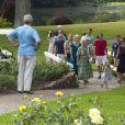 La famille royale de Danemark en séance photo le 26 juillet 2013 pour les médias dans le parc du château de Grasten, résidence d'été royale. Autour de la reine Margrethe II et du prince Henrik, le prince Frederik et la princesse Mary, et le prince Joachim et la princesse Marie, avec tous leurs enfants, ainsi que la princesse Benedikte, le prince Gustav et la princesse Alexandra de Sayn-Wittgenstein-Berleburg, et la reine Anne-Marie de Grèce étaient rassemblés.