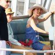 Woody Allen et sa femme Soon-Yi sur le port de Saint-Tropez, le 28 Juillet 2013.