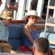 Woody Allen et Soon Yi sur le port à Saint-Tropez le 28 juillet 2013.