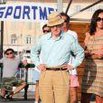 Woody Allen et des amis à Saint-Tropez le 28 juillet 2013.