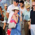 Woody Allen et sa femme Soon-Yi sur le port à Saint-Tropez le 28 juillet 2013.