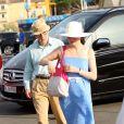 Woody Allen et Soon Yi à Saint-Tropez le 28 juillet 2013.