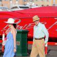 Woody Allen et sa femme Soon-Yi à Saint-Tropez le 28 juillet 2013.