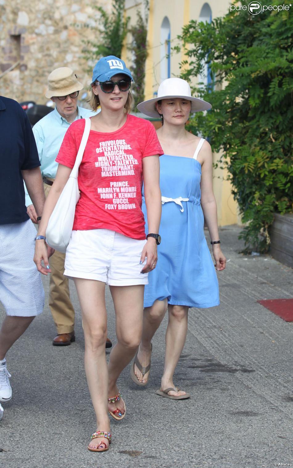 Woody Allen et Soon-Yi au Club 55   224  Saint-Tropez le 28 juillet 2013 Woody Allen Soon Yi 2013