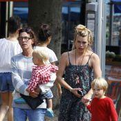 Billie Piper : Maman relax et estivale avec ses craquants Eugene et Winston