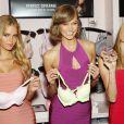 Erin Heatherton, Karlie Kloss et Behati Prinsloo célèbrent la sortie de la collection Body By Victoria de Victoria's Secret, dans la boutique de la marque, à SoHo. New York, le 30 juillet 2013.