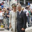 La famille royale de Belgique, menée par le roi Philippe et la reine Mathilde, s'est rassemblée en la cathédrale des Saints Michel-et-Gudule de Bruxelles le 31 juillet 2013 pour une messe à la mémoire du regretté roi Baudouin au 20e anniversaire de sa mort.