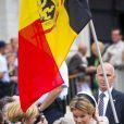 Dix jours après l'intronisation, la ferveur royaliste n'est pas retombée. La famille royale de Belgique, menée par le roi Philippe et la reine Mathilde, s'est rassemblée en la cathédrale des Saints Michel-et-Gudule de Bruxelles le 31 juillet 2013 pour une messe à la mémoire du regretté roi Baudouin au 20e anniversaire de sa mort.