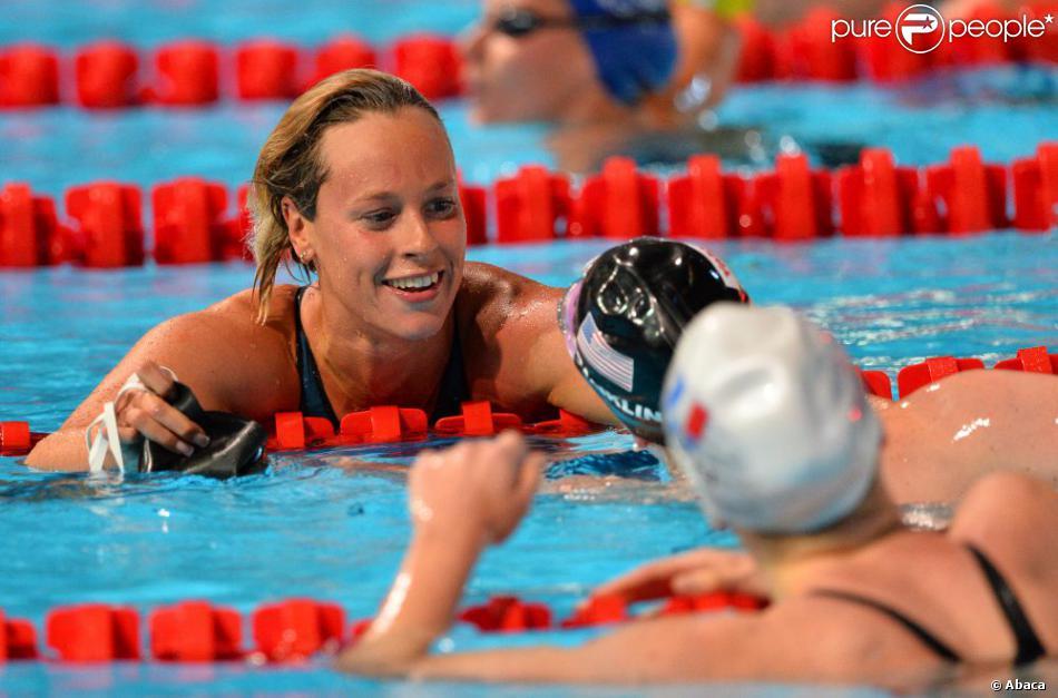 Federica Pellegrini lors de la finale du 200 m nage libre le 31 juillet 2013 au Palau Sant Jordi de Barcelone