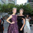 Soirée de bienfaisance pour les 40 ans du Club Allemand International de Monaco à l'Hotel Hermitage, marquée par un défilé de la marque Basler, le 30 juillet 2013. Photo BestImage/Frederic Nebinger