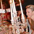 La princesse Charlene de Monaco lors du dîner de la soirée de bienfaisance pour les 40 ans du Club Allemand International de Monaco, marquée par un défilé de la marque Basler, le 30 juillet 2013 à l'Hôtel Hermitage de Monte-Carlo. Photo BestImage/Frederic Nebinger